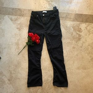 Zara Cropped Flare Ankle Pants